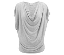 Draped Stretch-modal Top Hellgrau