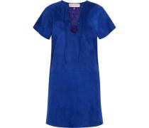 Lace-up Suede Mini Dress Kobaltblau