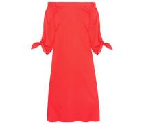 Off-the-shoulder cotton-poplin midi dress