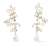 22 Kt. Vergoldete Ohrringe mit Kristallen