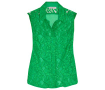 Cassie Guipure Lace And Chiffon Blouse Jade