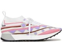 Sneakers aus Jacquard-strick