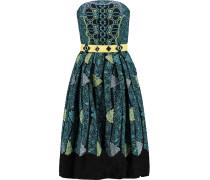 Kinetic Printed Cloqué Dress Türkis