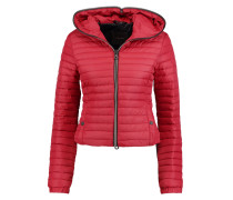 Sosandra Quilted Shell Hooded Jacket Bordeaux