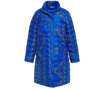 Quilted Printed Shell Coat
