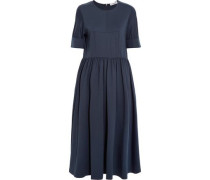 Cotton-blend jersey midi dress