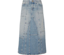 The DIY patchwork denim maxi skirt