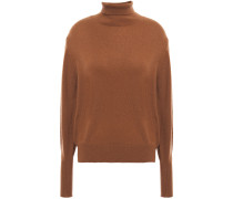 Woman Cashmere Turtleneck Sweater Brown