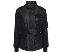 Addie faux leather-trimmed quilted cotton jacket