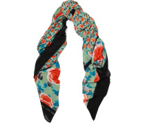 Spliced Jerrie Floral-print Woven Scarf Mehrfarbig