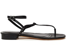 Lilas Sandalen aus Satin und Leder mit Nieten