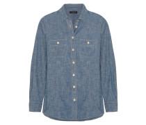 Selvedge Cotton-chambray Shirt Blau