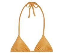 The Iris Metallic Triangle Bikini Top