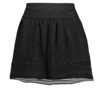 Darby pleated corded lace mini skirt