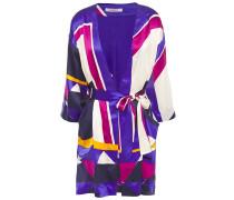 Artwork Museum Printed Silk-satin Kimono