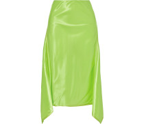 Darby Asymmetric Satin Midi Skirt