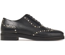 Alexis Studded Leather Brogues