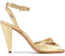 Woman Fairy Twisted Suede Sandals Gold