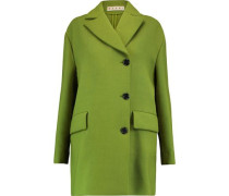 Wool-crepe coat