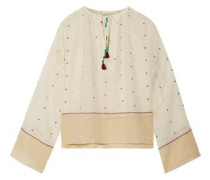 Orpheo embroidered cotton-gauze blouse