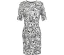 Woman Twist-front Snake-print Stretch-jersey Mini Dress Animal Print
