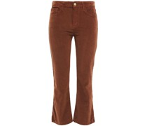 Le Crop Mini Stretch-cotton Corduroy Kick-flare Pants