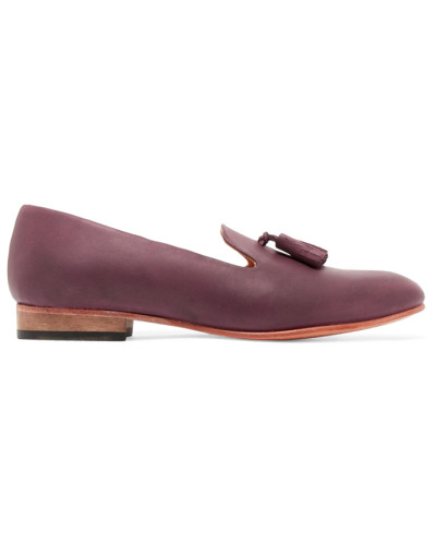 Gaston Leather Loafers Lila