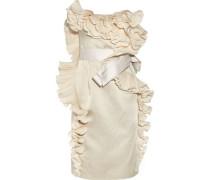 Ruffled satin dress