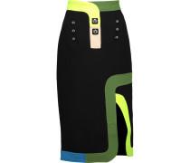 Track Embellished Wool-crepe Skirt Schwarz