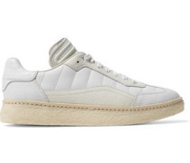 Eden smooth and textured-leather sneakers