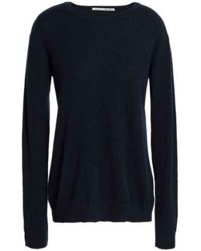 Bow-detailed Cashmere Sweater Navy