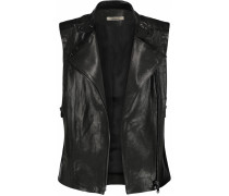 Madisyn Leather Vest Schwarz