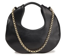Lune Chain-trimmed Leather Shoulder Bag