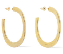 24-karat -plated Hoop Earrings