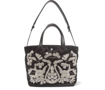 Eloise embroidered satin tote