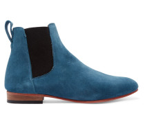 Troy Suede Ankle Boots Blau