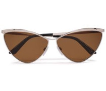 Cat-eye Gold-tone Mirrored Sunglasses Brown Size --