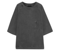 Sweatshirt aus Baumwollfleece in ausgewaschener Optik