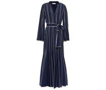 Robe aus Crêpe De Chine aus Seide mit Gürtel