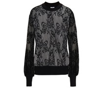 Chantilly Lace And French Terry Sweatshirt