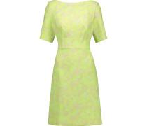 Floral-print Jacquard Dress Zitronengelb