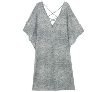 Nirvana printed cotton-voile coverup