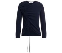 Geraffter Pullover aus Stretch-strick