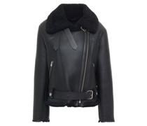 Dries Shearling Biker Jacket