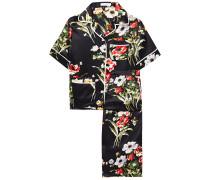 Daria Printed Silk-charmeuse Pajama Set