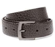 Cracked-leather Belt Dunkelgrau