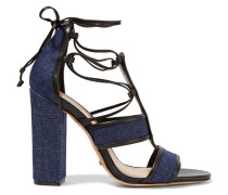Maxine Lace-up Denim Sandals Dunkler Denim