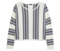 Bayside striped stretch-knit sweatshirt