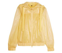 Swiss-dot tulle hooded jacket