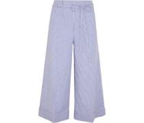Banada striped stretch-cotton wide-leg pants